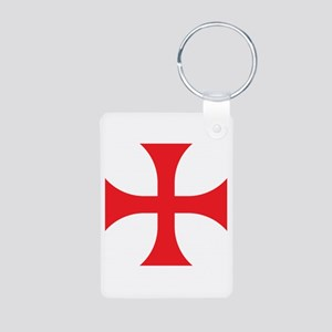 Knights Templar Aluminum Photo Keychain